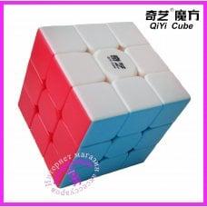 Кубик Рубика 3х3 из цветного пластика Qiyi